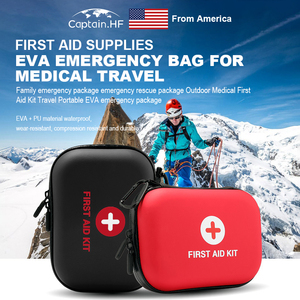 Image 1 - US Captain Estuche para botiquín de primeros auxilios, portátil viaje, medicina, paquete, bolsas de kit de emergencia, pequeño organizador divisor de almacenamiento de medicina