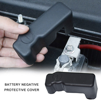 Car Cover Cap Battery Protection Cover ABS Battery Negative Protective For Toyota Land Vios Yaris Cruiser 200 FJ200 2008-2016 image