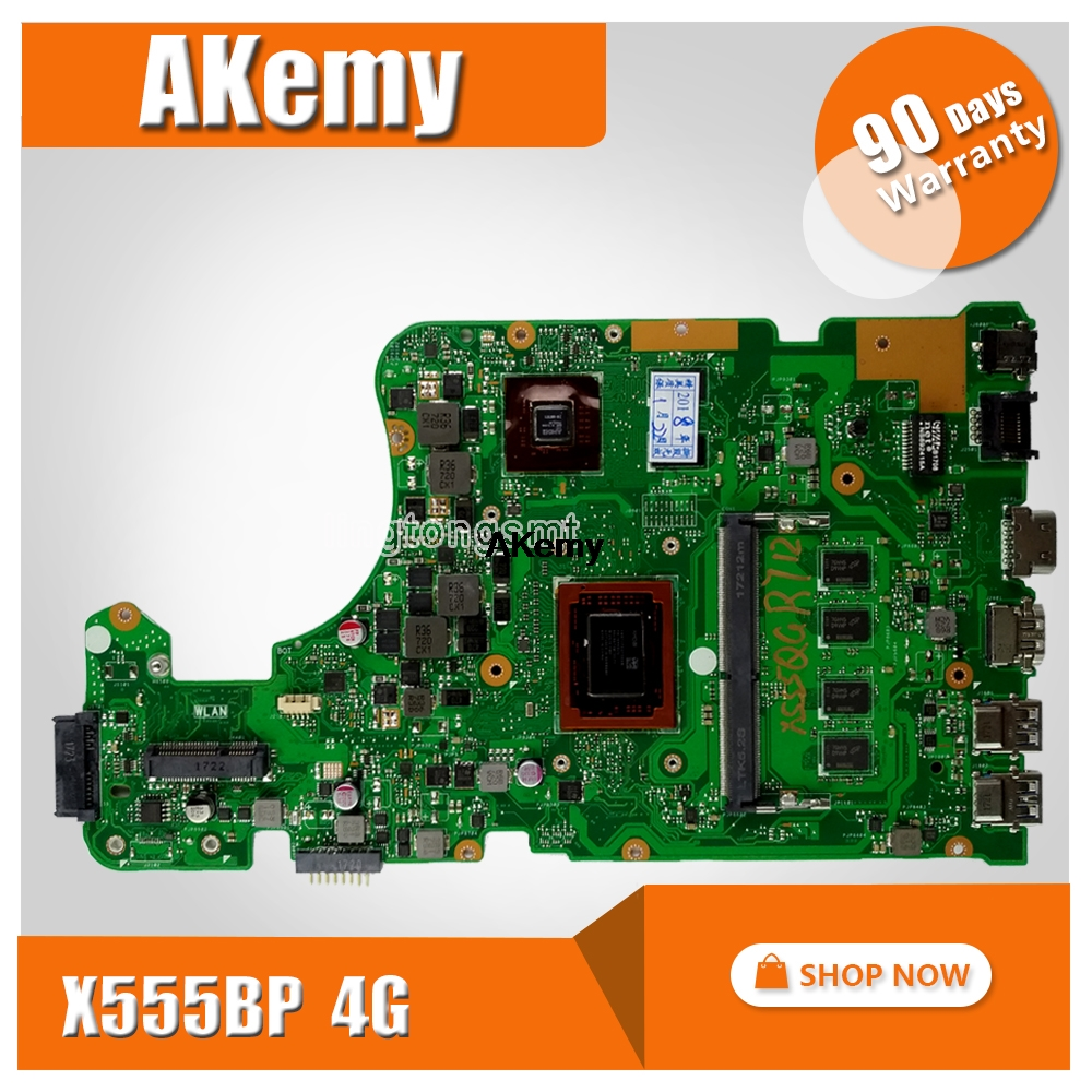 X555BP Motherboard For Asus X555B X555BP X555QG Laptop Motherboard A9-9420P CPU 4GB RAM R5 Graphics