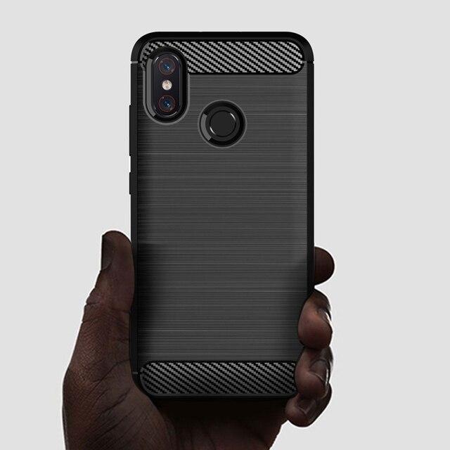 เคสโทรศัพท์สำหรับ xiaomi mi 8 Lite mi 8 mi 8lite ซอฟท์ซิลิโคน TPU คาร์บอนไฟเบอร์ป้องกัน xiaomi 8 8lite เกราะฝาครอบ Fundas
