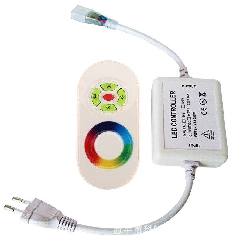 RF Touch High-pressure Light Bar Light Strip Controller 5050 Light 3528 High Pressure Remote Control LED Controller