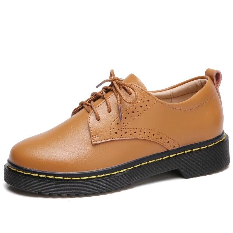 Femmes noir robe chaussures automne à lacets femmes chaussures en cuir véritable mode bateau chaussures mocassins chaussures femme XKD1083