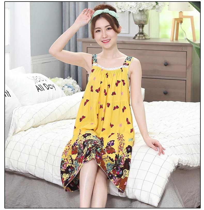 Oversize Women nightgowns Sexy Cotton Summer Sexy Nightgown Sleepshirts Sleepwear Lounge Casual Nightwear Female Dress