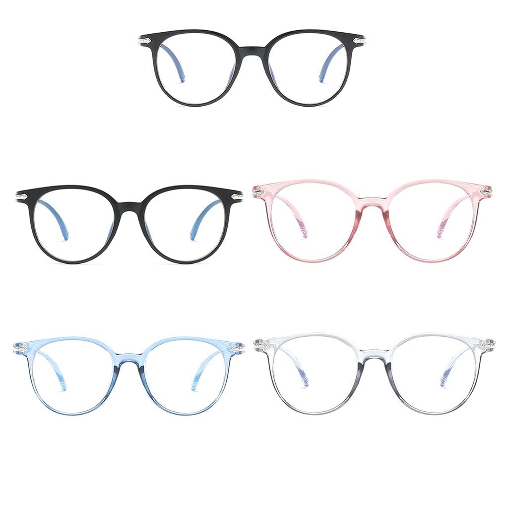 Women Glasses Frame Anti Blue Light Eyeglasses Frame Vintage Round Clear Lens Glasses Optical Spectacle Frame