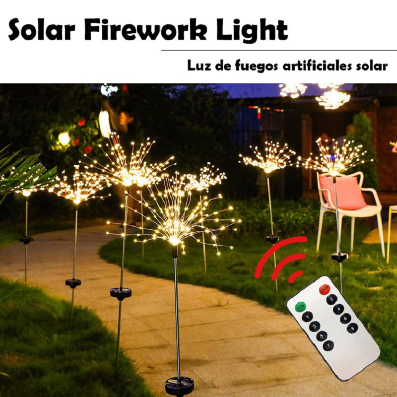 Sunlight Lamp Lawn Lights Fireworks For Party Wedding Party LED With Eight Function Modes YORO