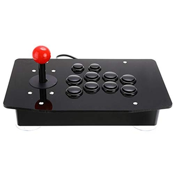 Arcade Joystick Fighting Stick Acrylic Wired Usb Gaming Controller Gamepad Video Game for PC Desktop pxn 0082 gamepad arcade wired game joystick controller usb interface for pc ps3 ps4 switch xbox