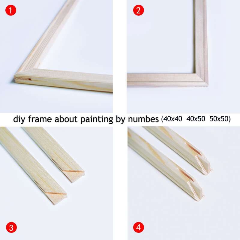painting by numbers Inner frame picture frame diy combo box do it yourself assembly Wood DIY Crafts    - AliExpress