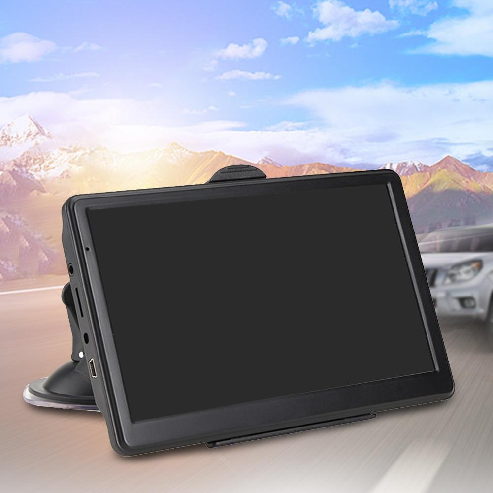 7 Inch 8GB 128MB Portable Resistive Display Universal Device Car GPS Navigator HD Guidance Truck Multilingual Caravan Maps FM