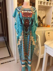 Image 3 - 2020 nowa afrykańska druku elastyczne bazin workowate spodnie rock style dashiki letnie sukienki dla pani/kobiety