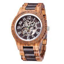 Мужские Классические наручные часы деревянные деловые высококачественные