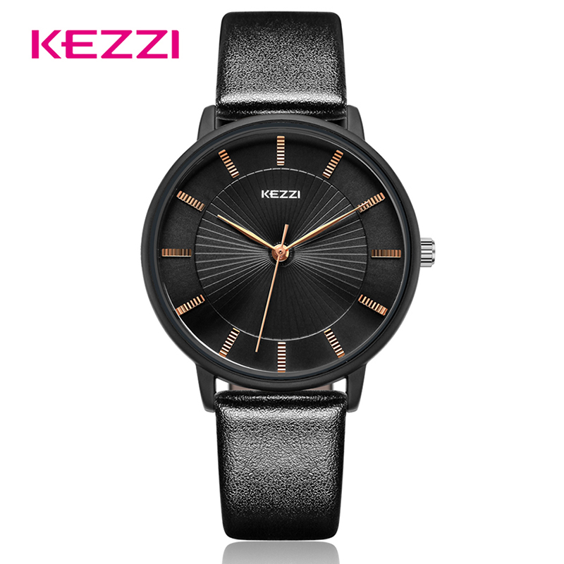 KEZZI Classic Women Quartz Watch Fashion Casual Business Wristwatch Men Women Simple Couple Watches For Loves