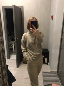 Image 4 - BELIARST Autumn and Winter New Cashmere Sweater Womens High Necked Pullover Loose Thick Sweater Short Paragraph Knit Shirt