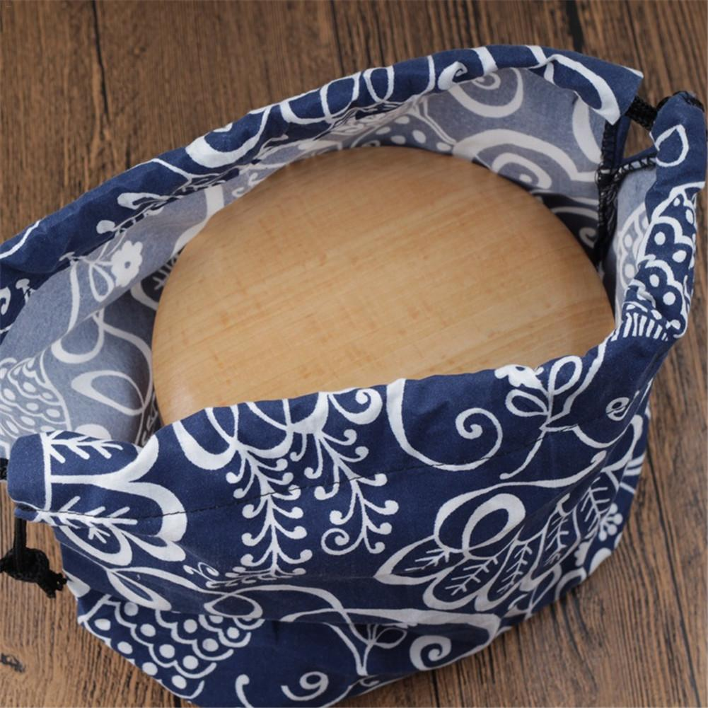 Japanese Style Lunch Box Bag Cotton Linen Bento Tote Pouch Portable Lunch Box Storage Bag For Daily Life Tourism Fishing Picnics