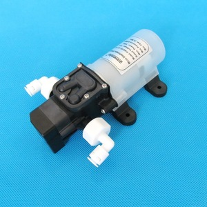 Image 5 - 2L/Min 12V 15W מאוד שקט מים מטהר מים מסנן מערכת מקלחת שטיפת מכוניות בלחץ dc סרעפת מים משאבת