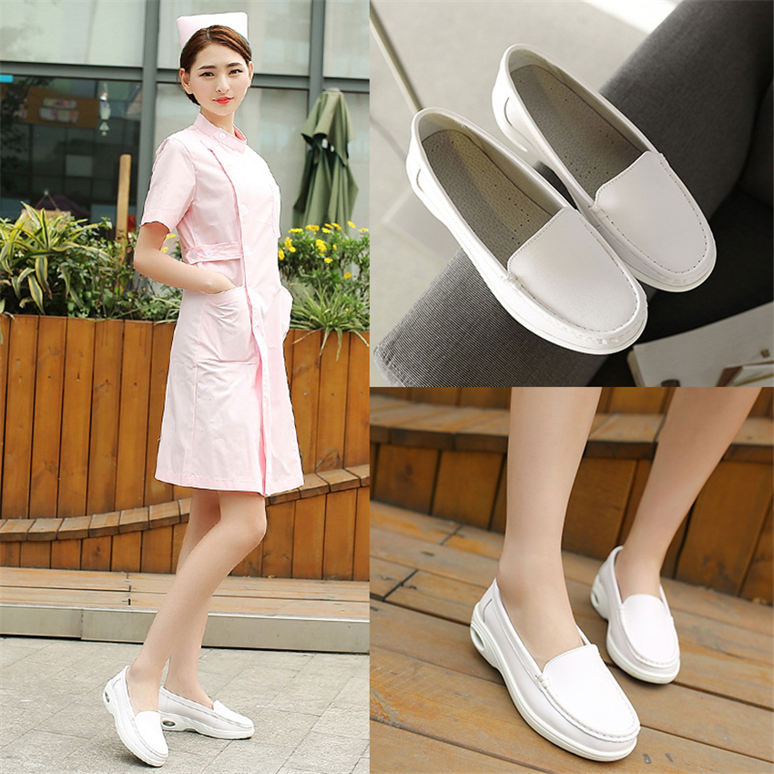 White Medical Accessories Woman Hospital Doctor Nurse Slippers Work Wear Hollow Air Cushion Breathable Scrub Non-slip Shoes