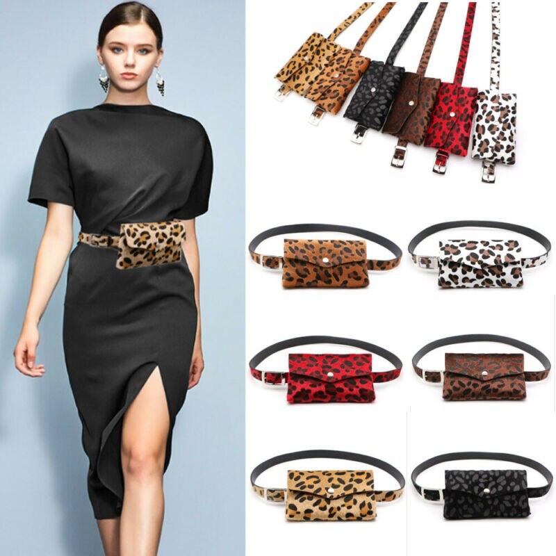 Faux Leather Waist Fanny Pack Belt Bag Pouch Travel Hip Bum Bag Women Mini Purse