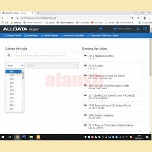 Image 4 - 2020 أحدث Alldata + ميشيل إصلاح السيارات البرمجيات على الانترنت حساب regste لا تحتاج إلى قرص صلب دعم هاتف ذكي الوسادة تصفح