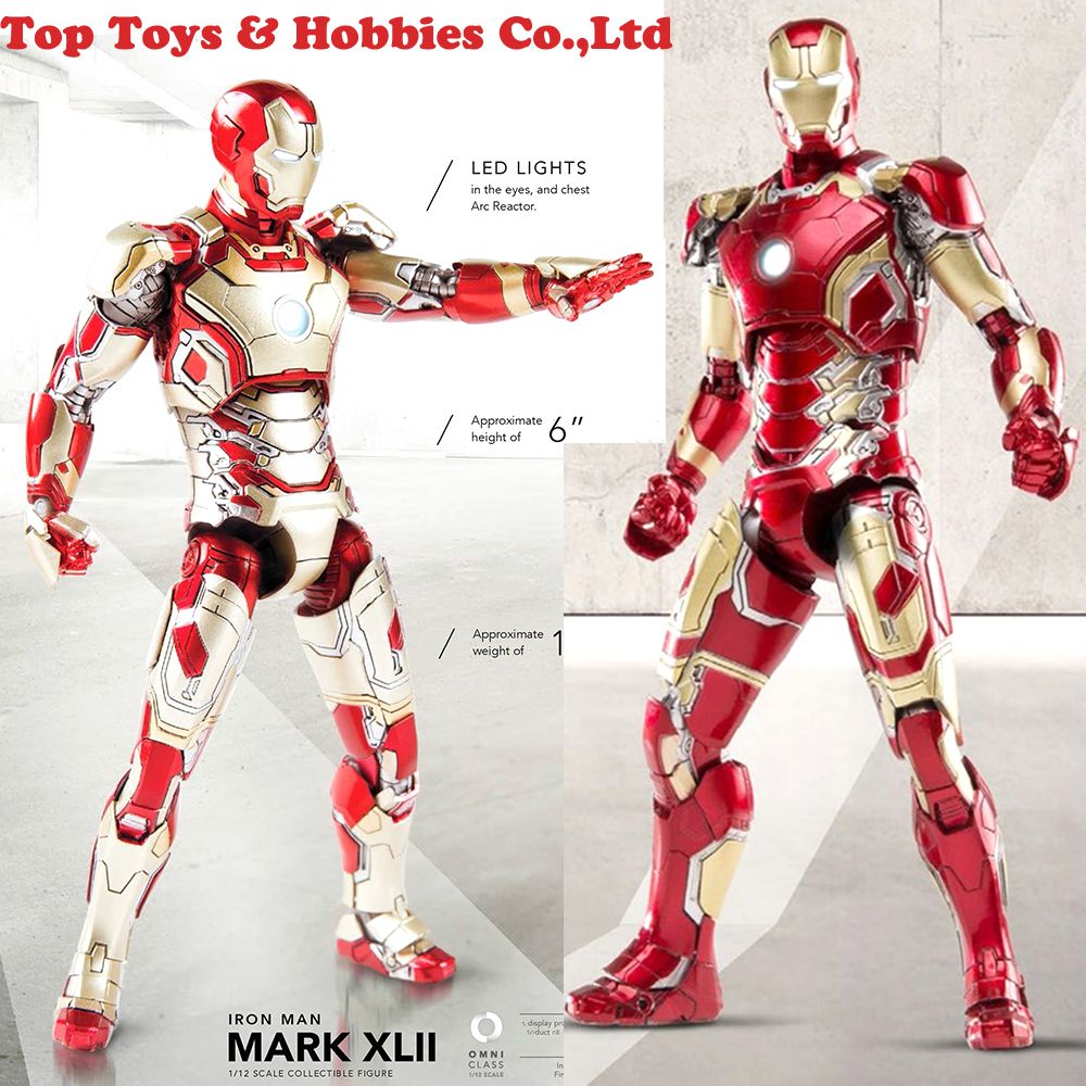Marvel Avengers Age of Ultron Cosplay Iron Man Glove With LED Light Figure Model