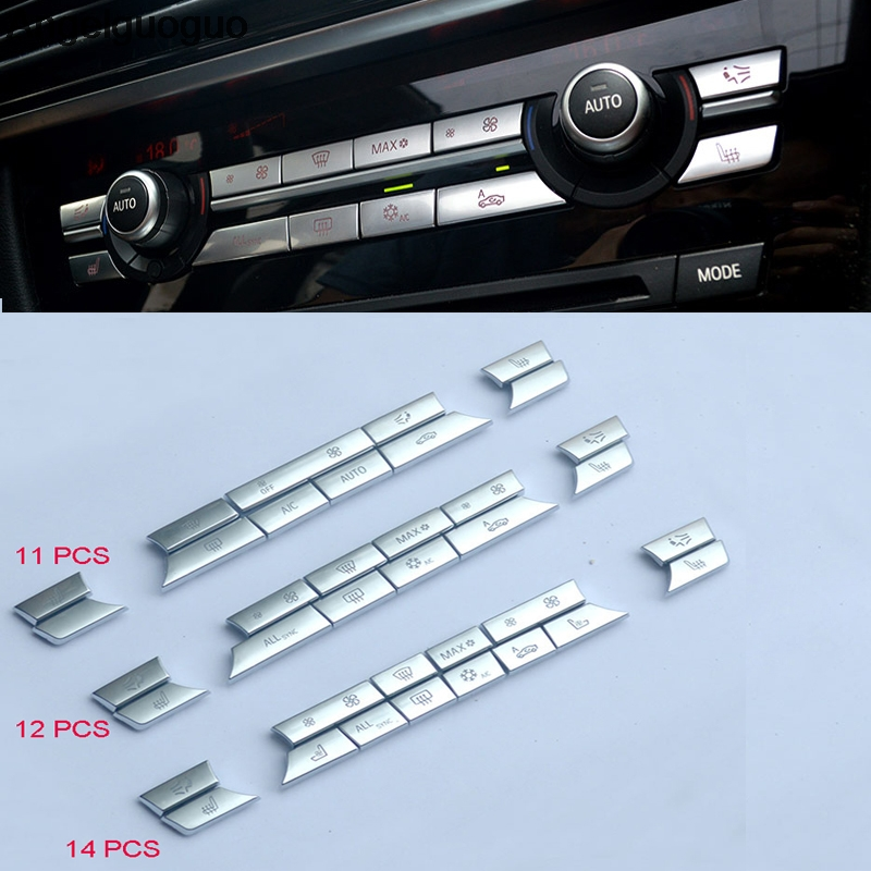 Кнопка регулировки громкости воздуха для автомобиля, сменная накладка на клейкой основе для BMW 5, 6, 7, X3, X4, X5, X6 серии