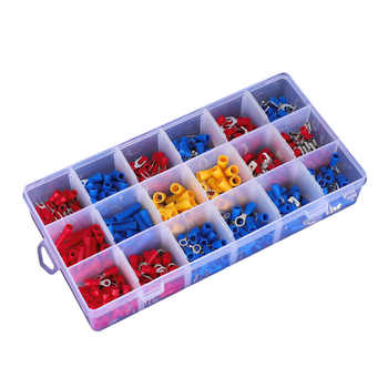 520pcs boxed cold-press terminals Round terminals Cold-pressed ring terminal combination set. - DISCOUNT ITEM  70 OFF Home Improvement