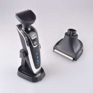 Image 3 - Kemei Electric Shaver 4D Floating Triple Blade Electric Razor Men Face Care Washable Rechargeable 4 In 1 Hair Trimmer 40D