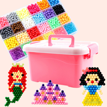 2020 DIY Water Mist Magic Beads Toys For Children Animal Molds Hand Making Puzzle Kids Educational Spell Replenish Beans