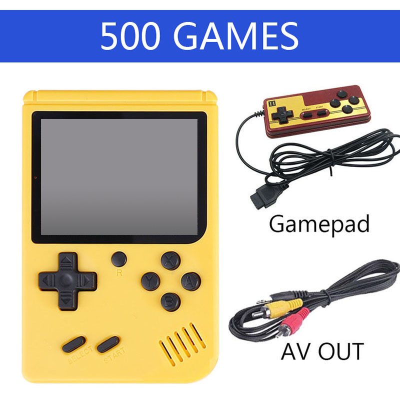 500 Games Retro Portable Mini Video Game Console 8 Bit Pocket Handheld Game Player Built-in Classic Games Best Gift For Child