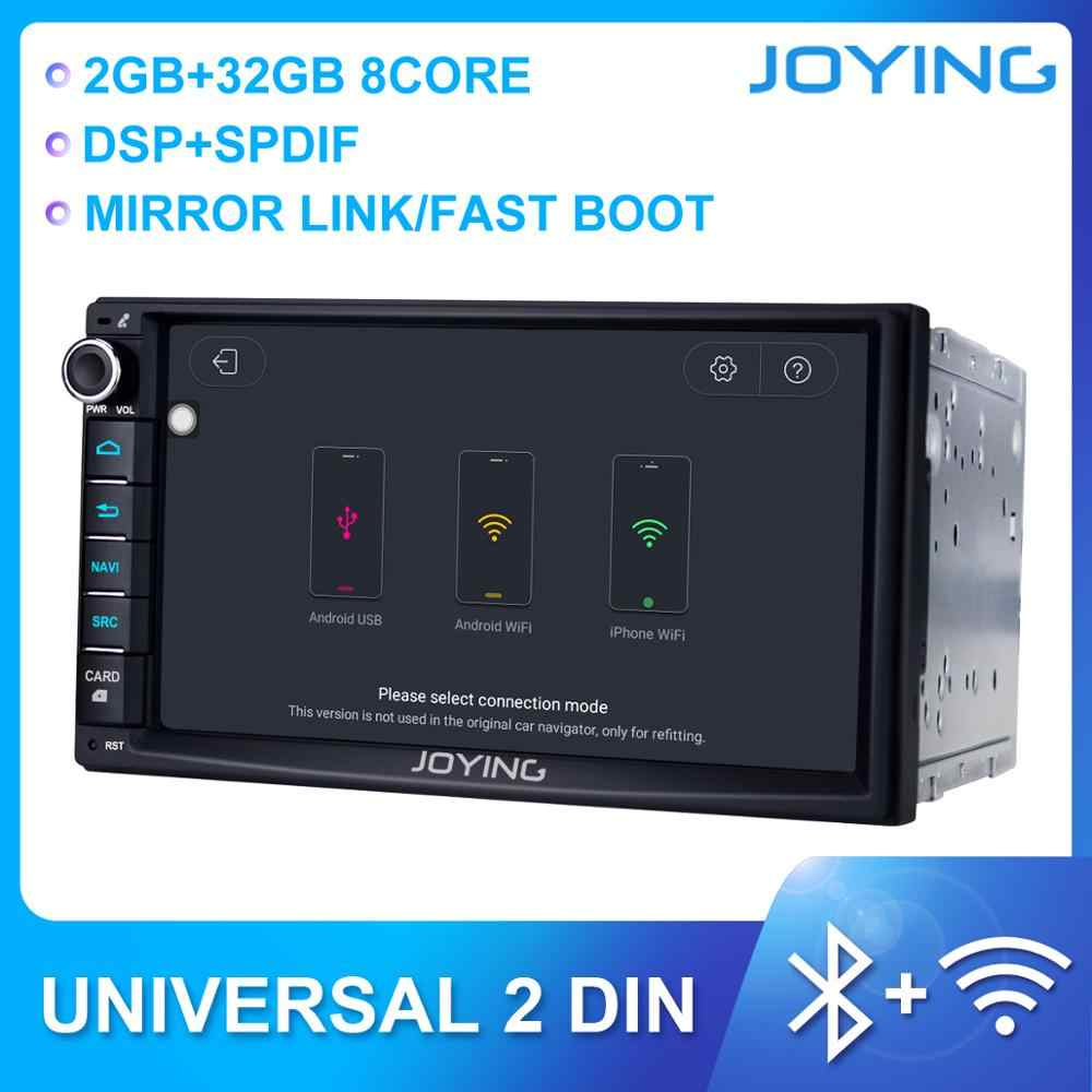 "JOYING Android 8.0 PX5 Octa Core 7 ""auto radio speler 4GB & 32GB video output/SWC /Carplay HD 1024*600 universele stereo autoradio BT"