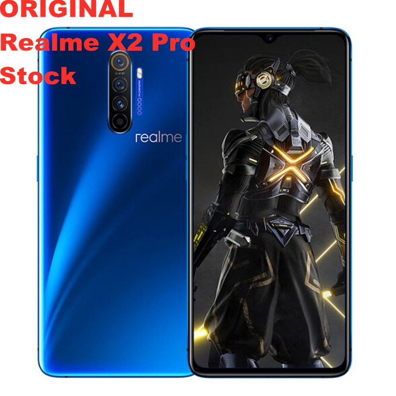 """Stock new Realme X2 Pro Mobile Phone Android 9.0 50W Super VOOC Snapdragon 855 Plus 6.5"""" 90HZ 8GB RAM 256GB ROM 64.0MP