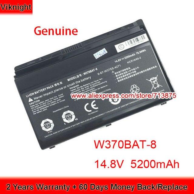 Genuino W370BAT 8 (SIMPLO) 6 87 W37SS 427 W350ET Batteria per Clevo W370ET W350ST W350ETQ W370SK K590S K650C K750S W35XSS 370SS
