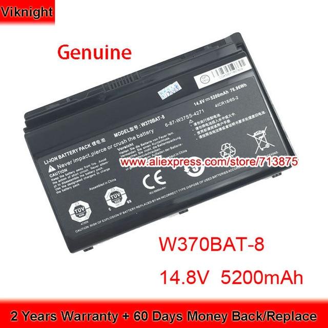 אמיתי W370BAT 8 (SIMPLO) 6 87 W37SS 427 W350ET סוללה עבור Clevo W370ET W350ST W350ETQ W370SK K590S K650C K750S W35XSS 370SS