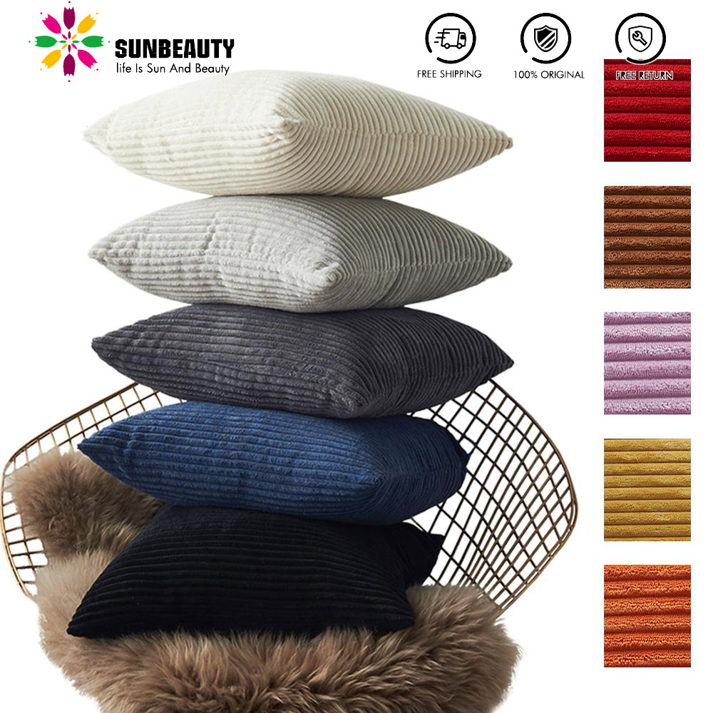26 Sty Velvet Cushion Cover Pillowcase Solid Color Pillow Case Cojines Decor Sofa Throw Pillows Room Pillow Cover Decorative 1pc