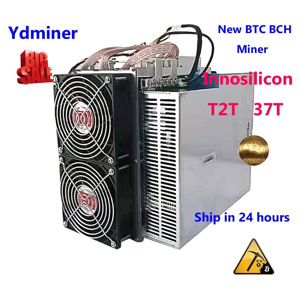 Nouveau mineur ASIC INNOSILICON T2T 37T bitcoin BTC BCH Bitcoin minéraux miniers mieux que ANTMINER s9j S11 S15 what sminer m3X M21s