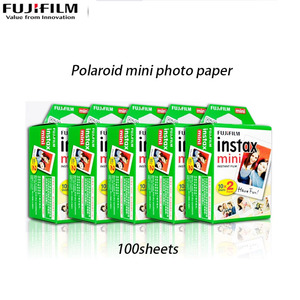 fujifilm instant camera Polaroid 3 inch photo paper mini7/9/11/25/70/90 white edge mini film