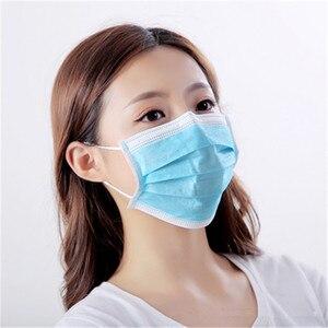 Image 5 - מסכות חד פעמיות רך 3 שכבה לא ארוג מגן מסכות אנטי אבק פה פנים מסכת חנות מפעל