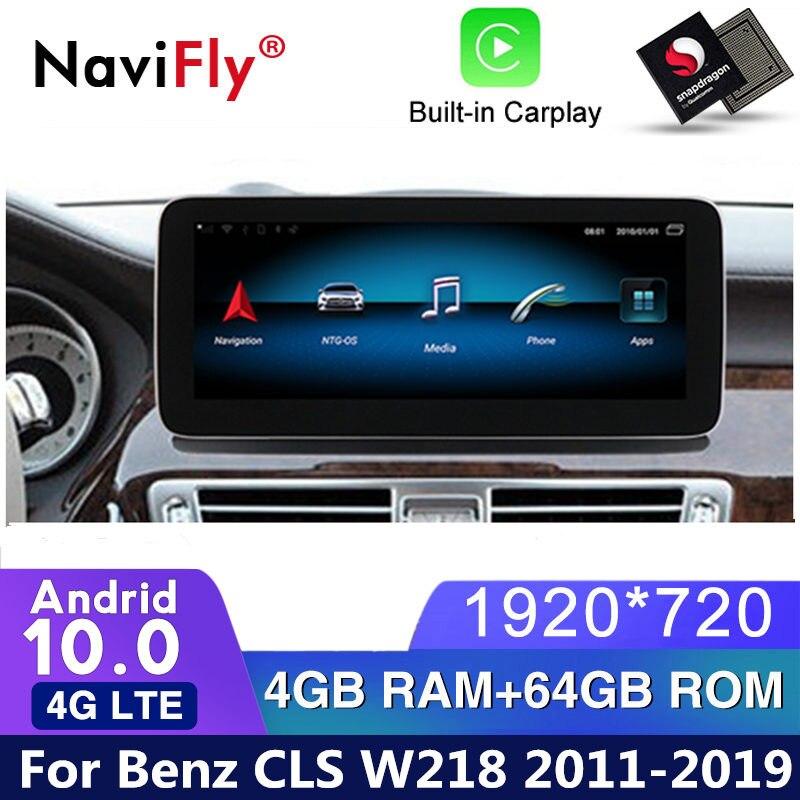 4G LTE Android 10 Автомобильный dvd Радио GPS навигация для Mercedes Benz CLS Class W218 2011 2012 2013 2014 2015 2016 2017 2018 WIFI gps