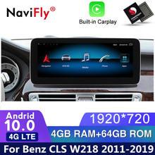4G LTE Android 10 samochodowy odtwarzacz dvd radio nawigacja GPS dla Mercedes Benz CLS klasa W218 2011 2012 2013 2014 2015 2016 2017 2018 WIFI gps