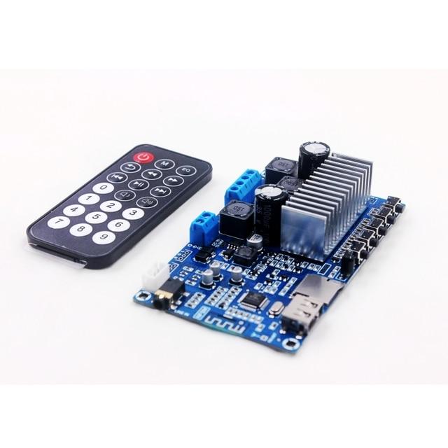 TPA3116 50W*2 Bluetooth 5.0 Audio Receiver Stereo Digital power amplifier board FM Radio USB Decode Remote control