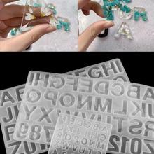 1 шт. формы для эпоксидной смолы с английским алфавитом смешанные стильные силиконовые литые формы для самостоятельного изготовления ювели...
