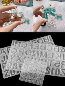 Epoxy Resin Molds Findings-Supplies-Accessories Jewelry-Making English-Alphabet Silicone