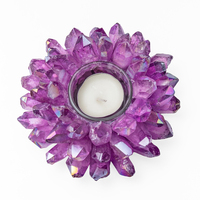 Stone Candle Holder Home Natural Crystal Decoration Candlestick Crystal Candle Holder Candlestick Home Party Dinner Decor