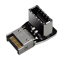 Placa-mãe do computador usb3.1 TYPE-E interface 90 graus direção 10g frente tipo-c instalado