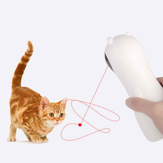 Cat Interactive Toy Automatic Cat Laser Pointer for Cats LED Laser Funny Toy USB/Battery Charging Pet Training Exercise Chaser 3