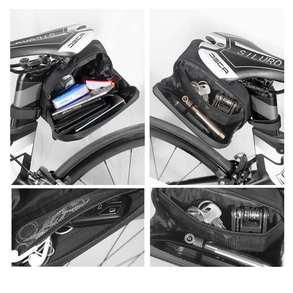 WILD MAN Bicycle Reflective Saddle Rear Tool Bags Bike Seat Tail Hard Bags
