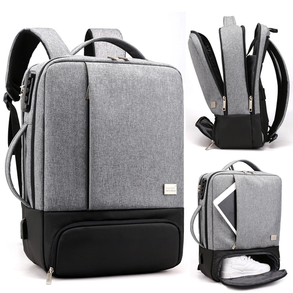 SHUJIN Mens Backpack Laptop Backpacks 17 Inch 15.6'' Anti Theft Male  Notebook Trip Back Pack Office Women Travel Backpack