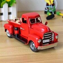 Adornos navideños Vintage Bule Metal camión con ruedas mesa de Navidad decoración de escritorio para niños regalo juguete niños juguetes decoración del hogar