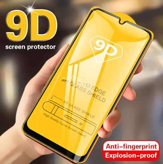 9D Tempered Glass On For Samsung Galaxy A50 A40 A30 A70 Full Screen Protector Glass For Samsung M10 M20 A20 A10 Protective Film