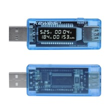 USB Current Voltage Capacity Tester Volt Current Voltage Detect Charger Capacity Tester Meter Mobile Power Detector Battery Test cheap ACEHE CN(Origin) Electrical Power Bank Battery Tester 3 5V-9V (1 accuracy) 0-3 3A (accuracy 1 ) 0-99Hour 0-99999mAh Light blue