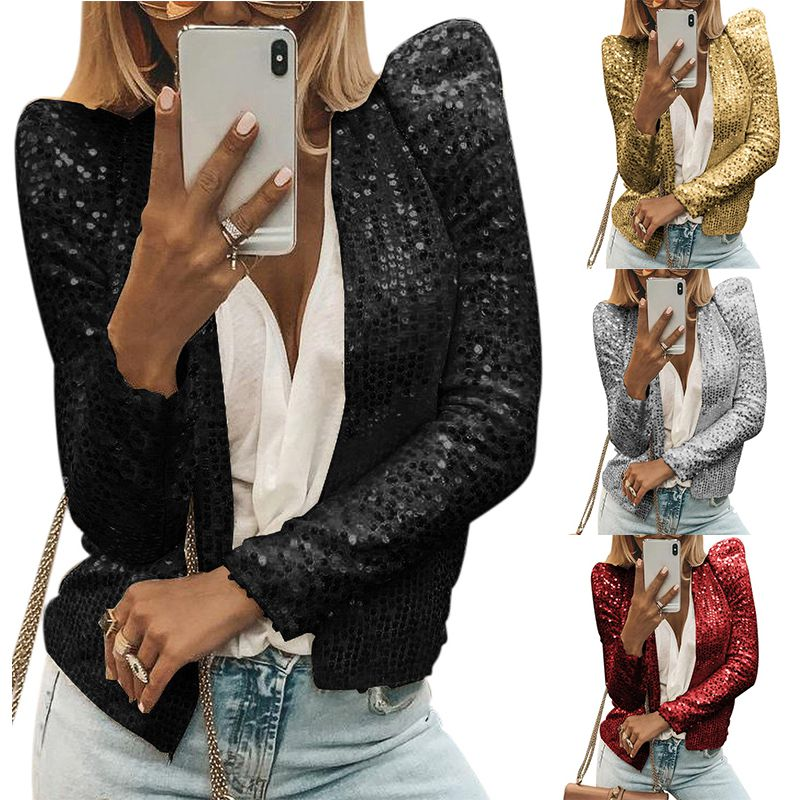 Jackets Women Blazer OL Slim Casual Long Sleeve Feminino Thin Blazers Jackets Tops Suit Cardigan Open Stitch Outwear NEW!