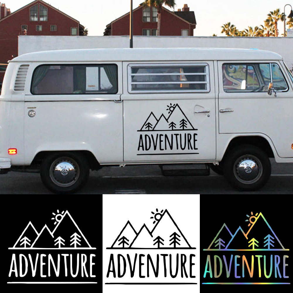 Fashion Mountains ADVENTURE Car Stickers And Decals Vinyl Car-Styling Art For Car Decal Windshield Waterproof Atuo Accessories